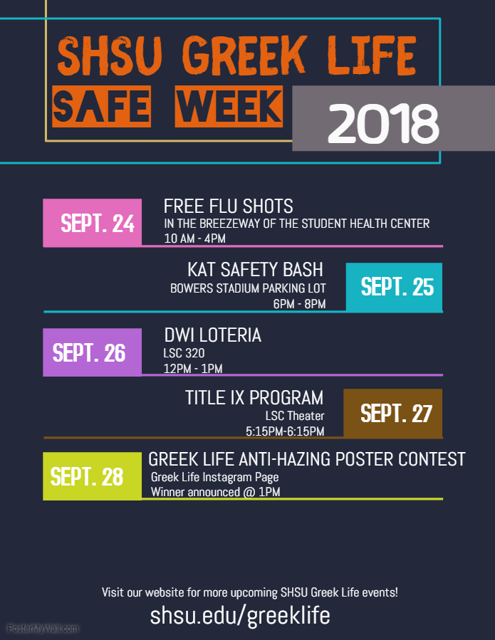 2018 Safe Week Flyer