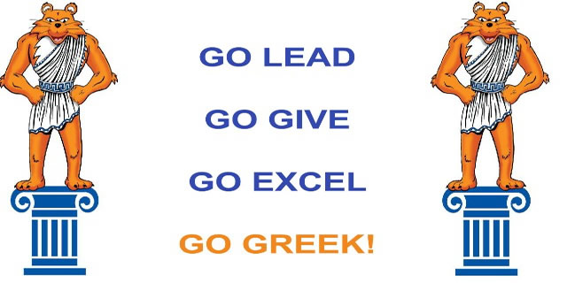 Go Lead, Go Give, Go Excel, Go Greek!