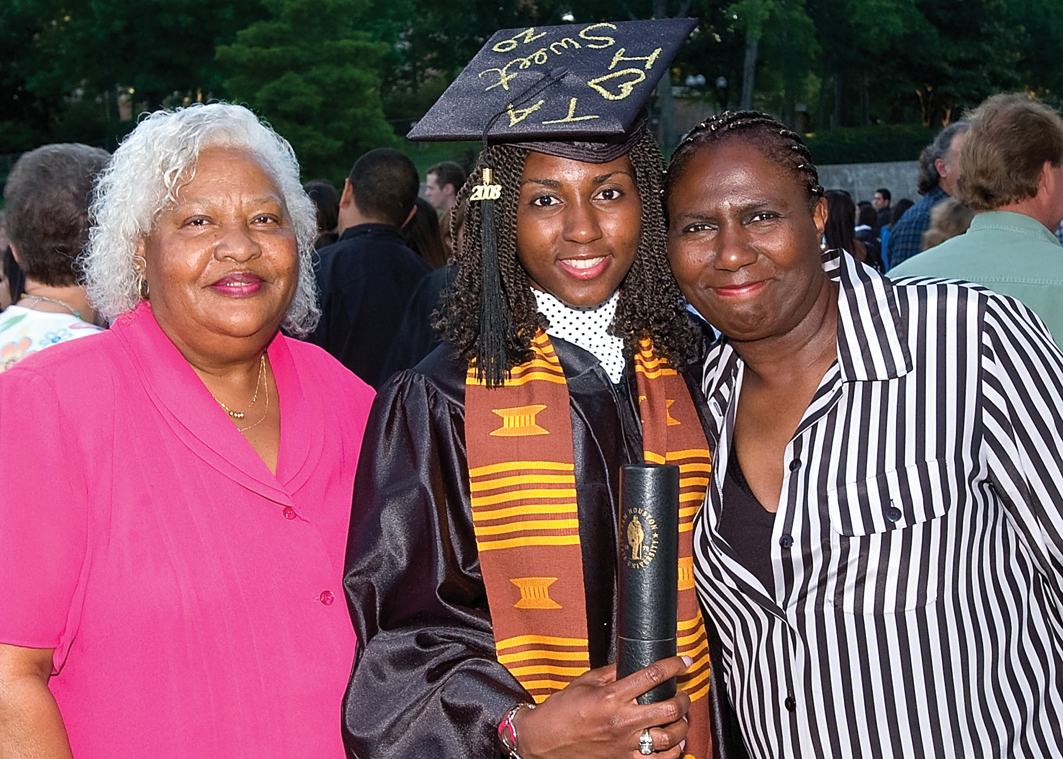 Graduate with Mom and Grandmon