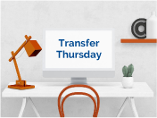 Click to join Transfer Thursday on Zoom