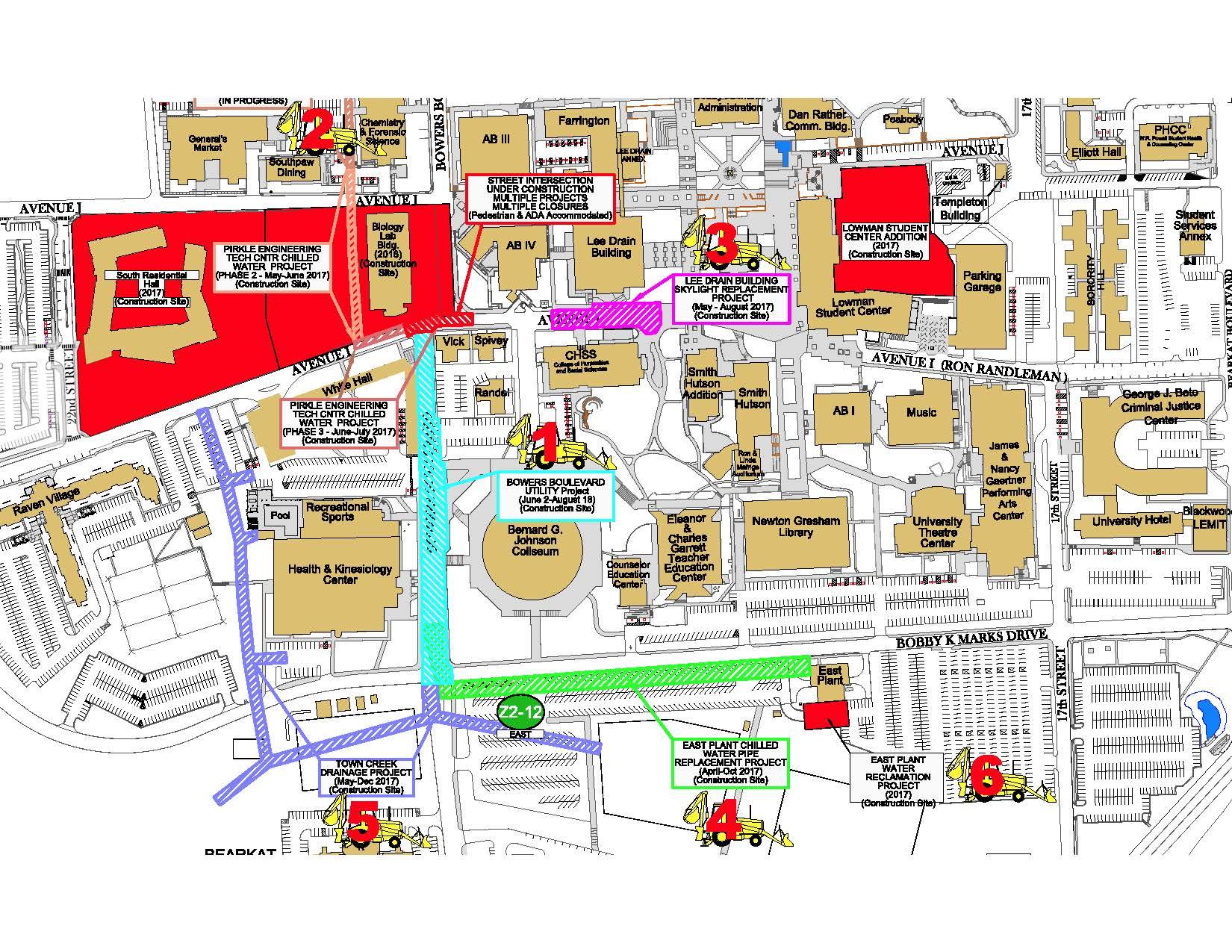 Shsu Parking Map