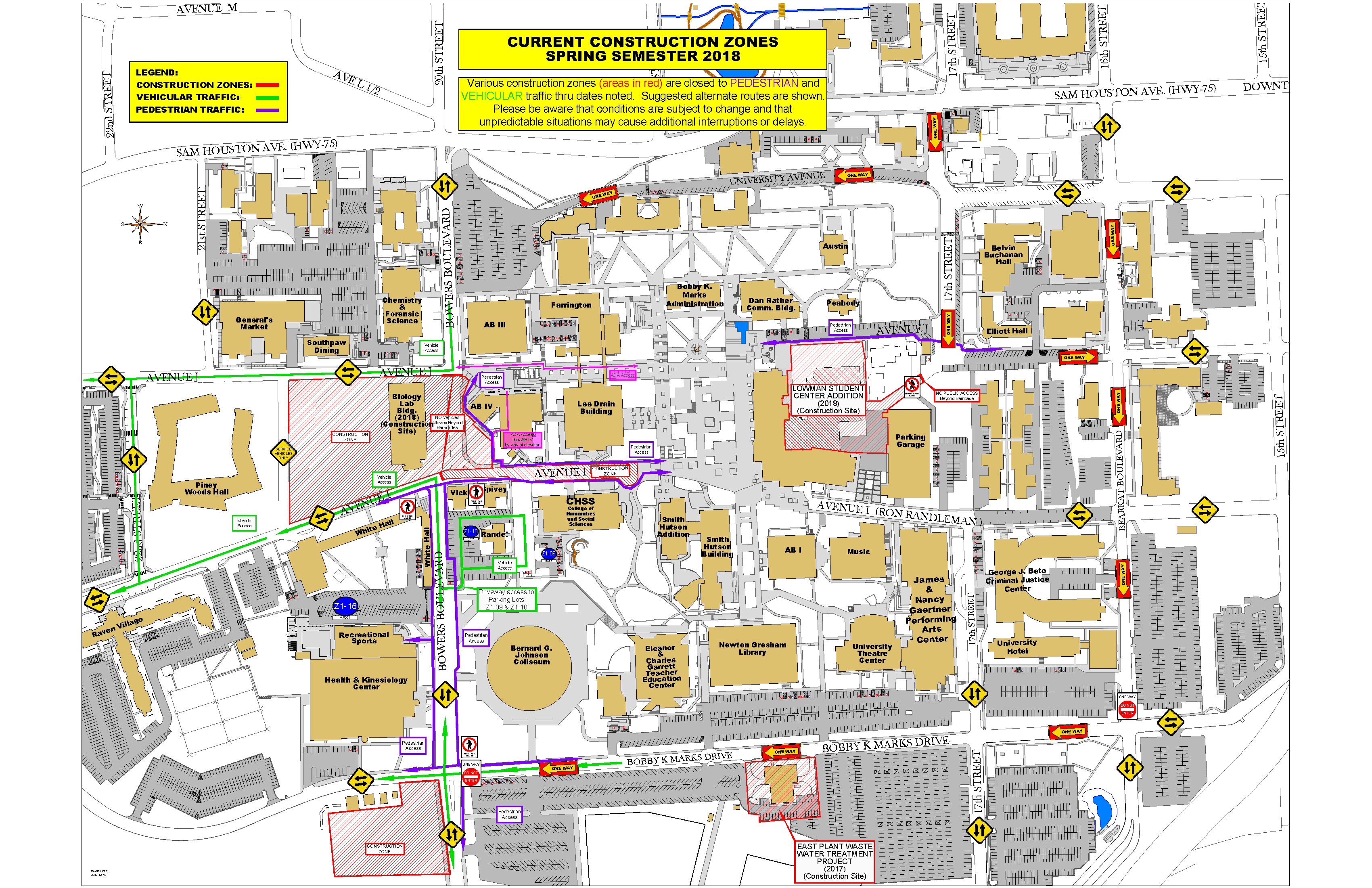 sam houston state university campus map Master Campus Map 135 Huntsville Tx Induced Info sam houston state university campus map