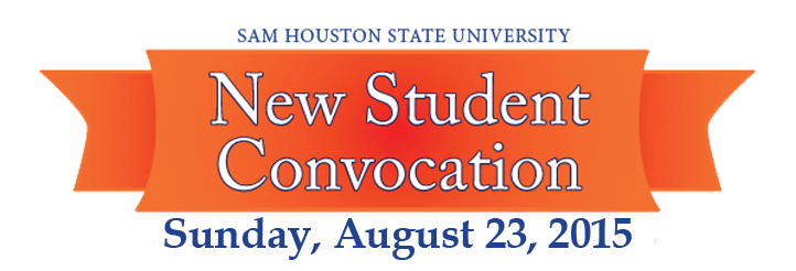 SHSU New Student Convocation on Sunday August 23, 2015