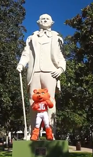 Sam Houston with Sammy the Bearkat