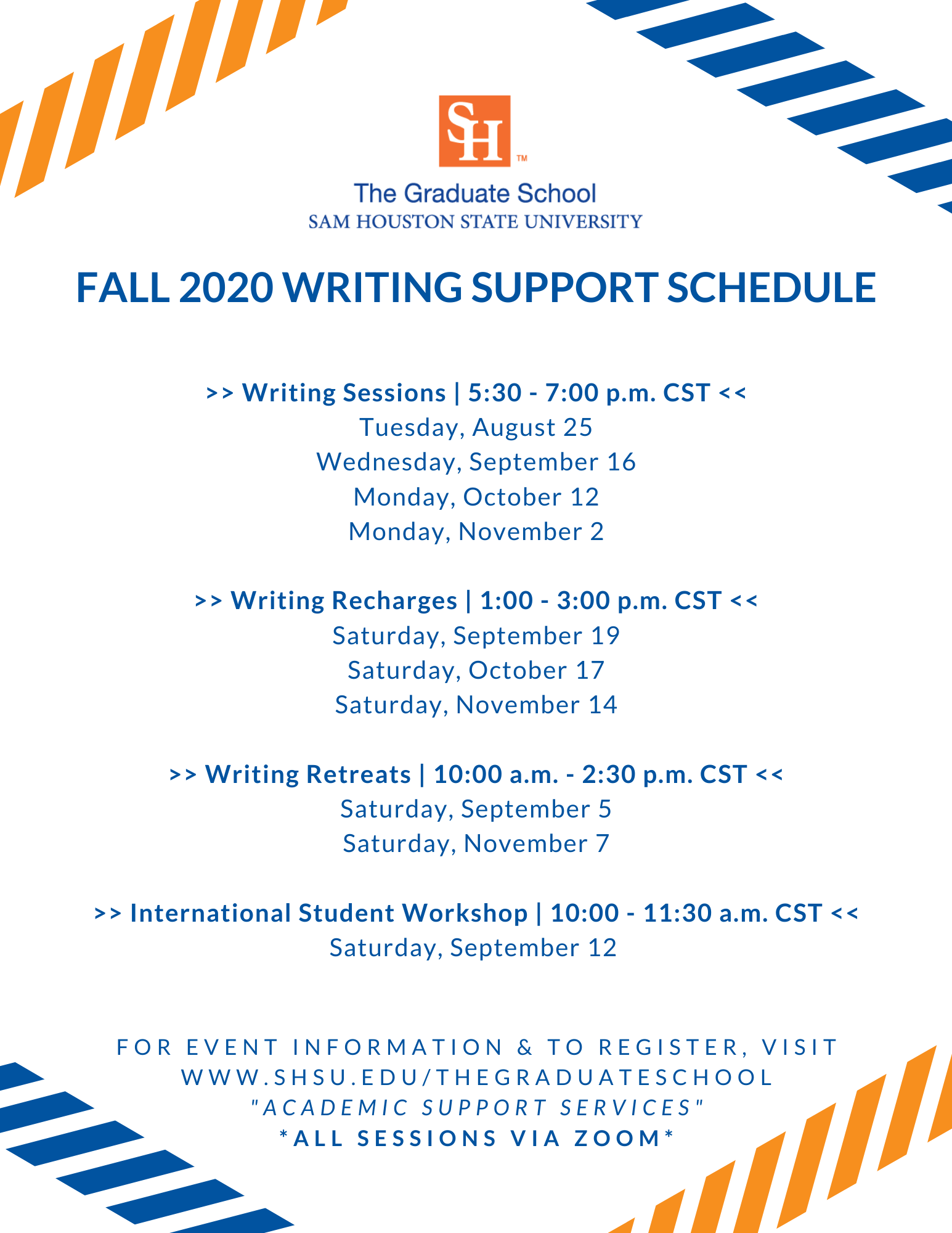 Copy of Fall 20 Writing Schedule_Mail-Out