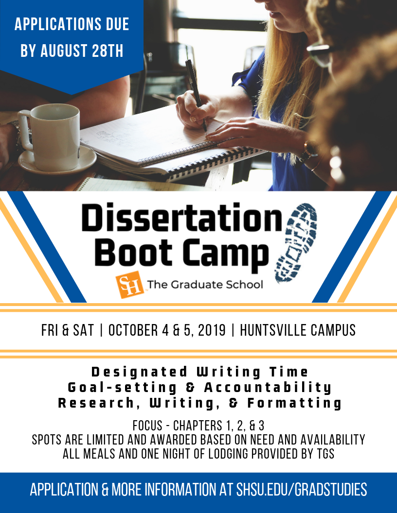 Dissertation writing boot camp
