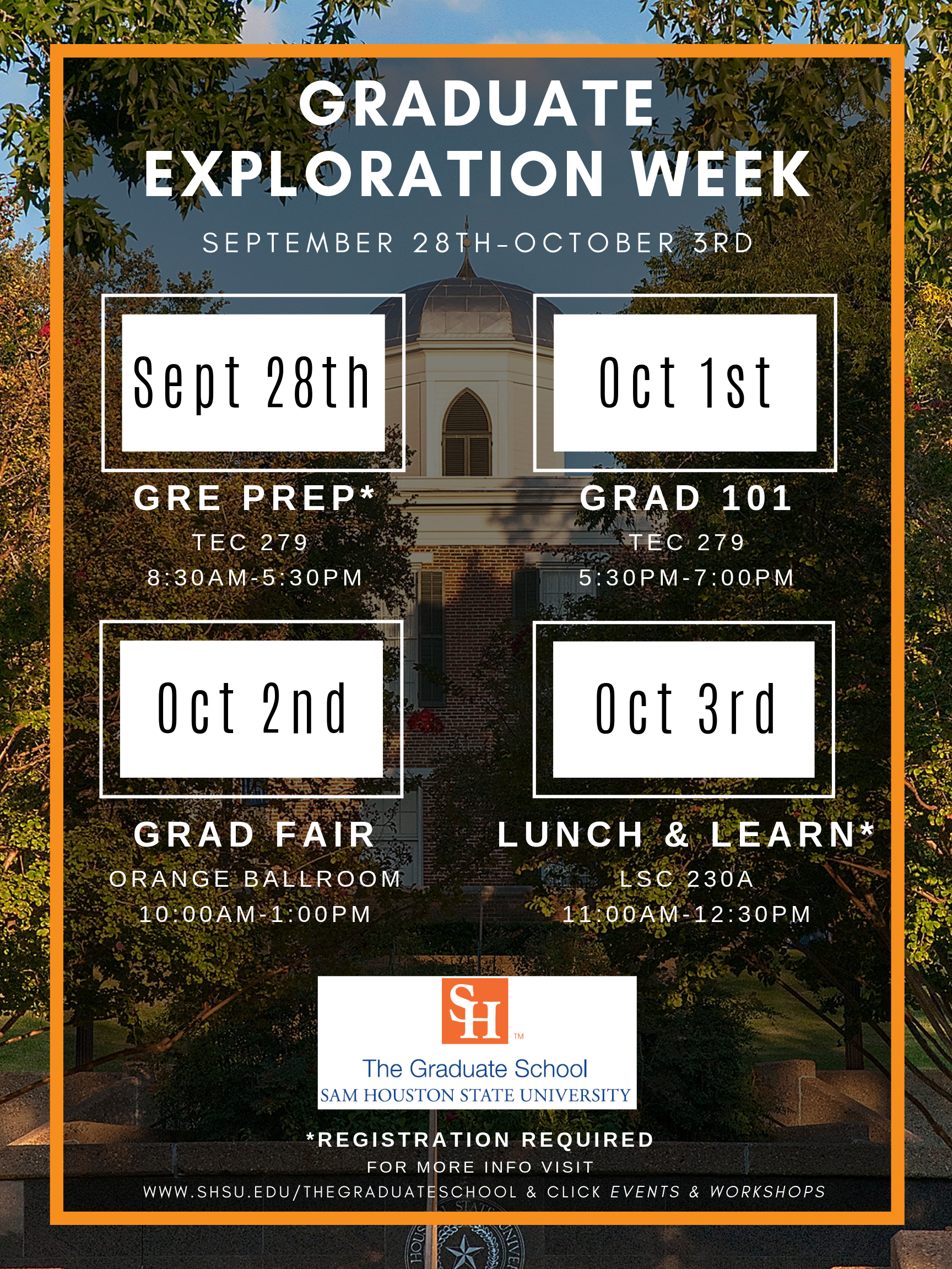 Grad Exploration Week Fall 2019
