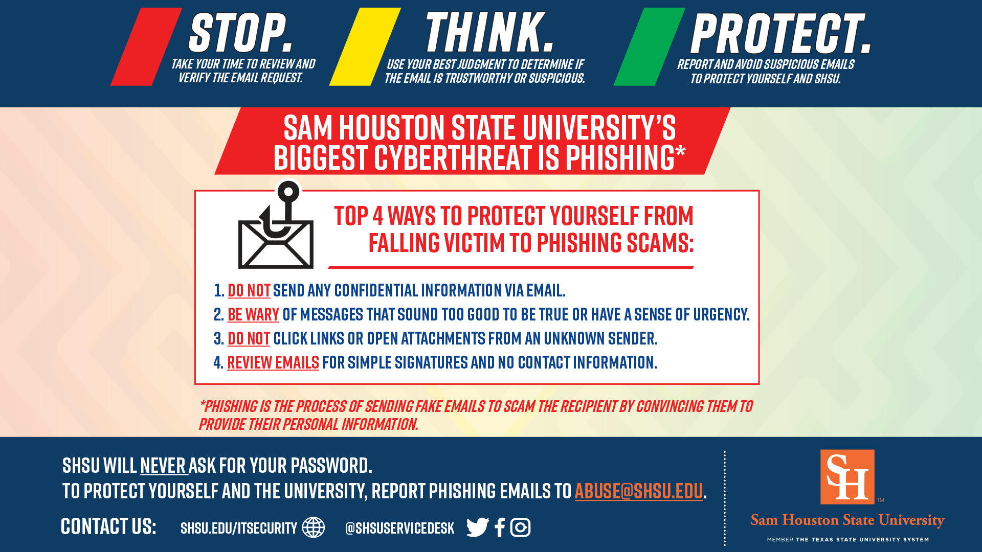 Graphic of the Protect Yourself from Scams information
