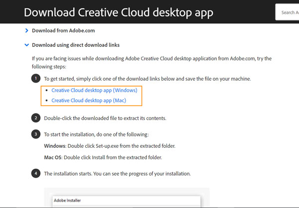 adobe cc apps direct download