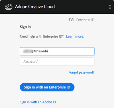 Installer Signin with Enterprise ID
