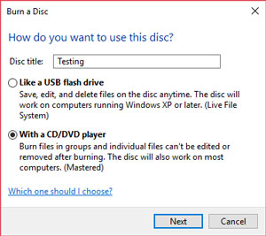 How to Burn Disc