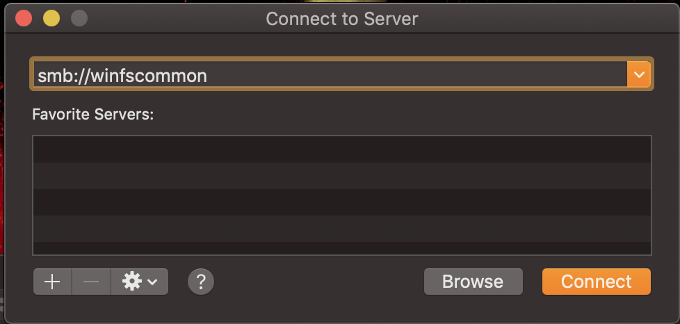 4_Type Server name_Select connect