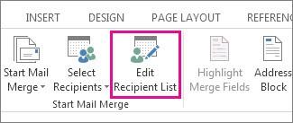 Edit Recipients