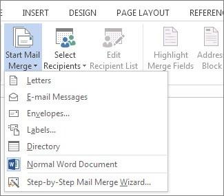 Start Mail Merge