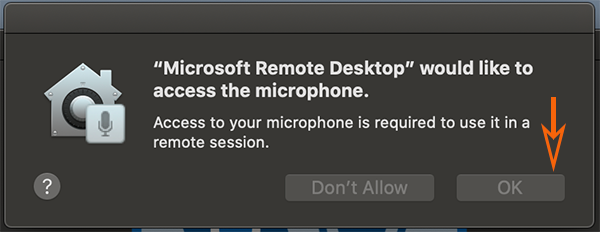 Ok to Microphone