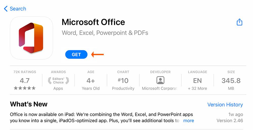 1.-App Store Get