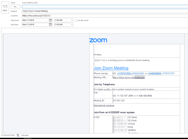Zoom Meeting Invite