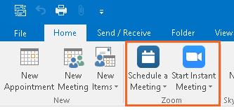 Zoom - Create Outlook Invite