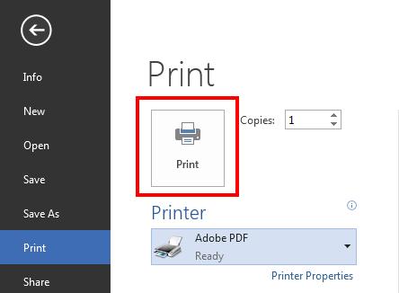 Printer Adobe PDF