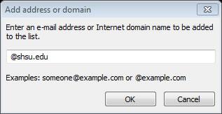Add Domain @SHSU
