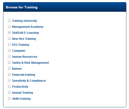 Browse for Training