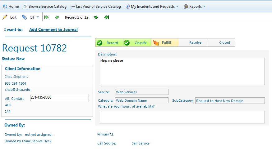 Additonal Details Screen