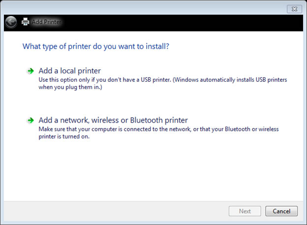 Adding a network printer