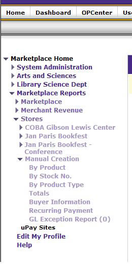 Marketplace Reports