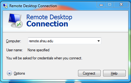 Remote Desktop Connection
