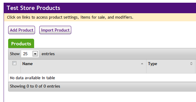 Add Product Button