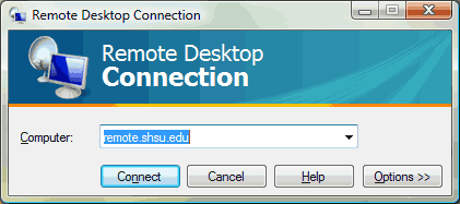 Remote Desktop click Connect