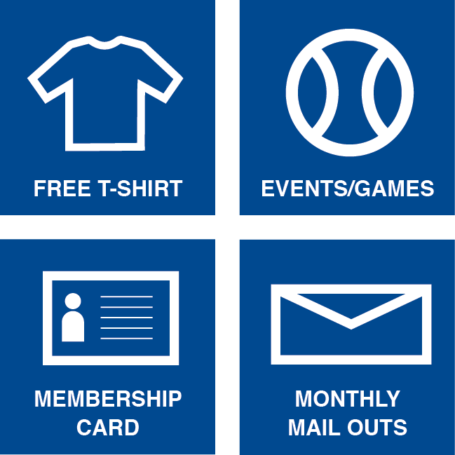 Free T-Shirt, Events/Games, Membership Card, Monthly Mail Outs