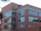Corner view of new CHSS building.