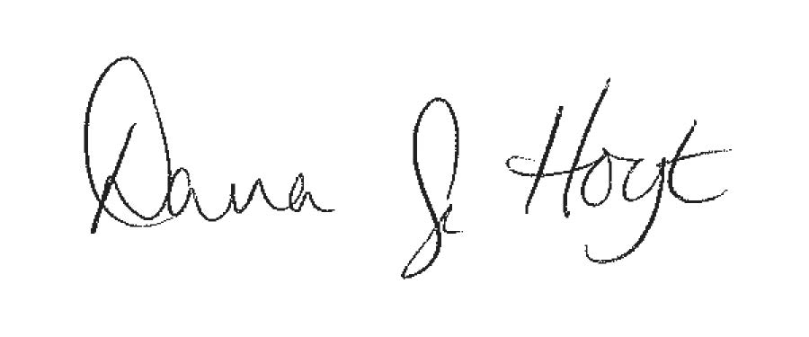 Dr. Hoyt Signature