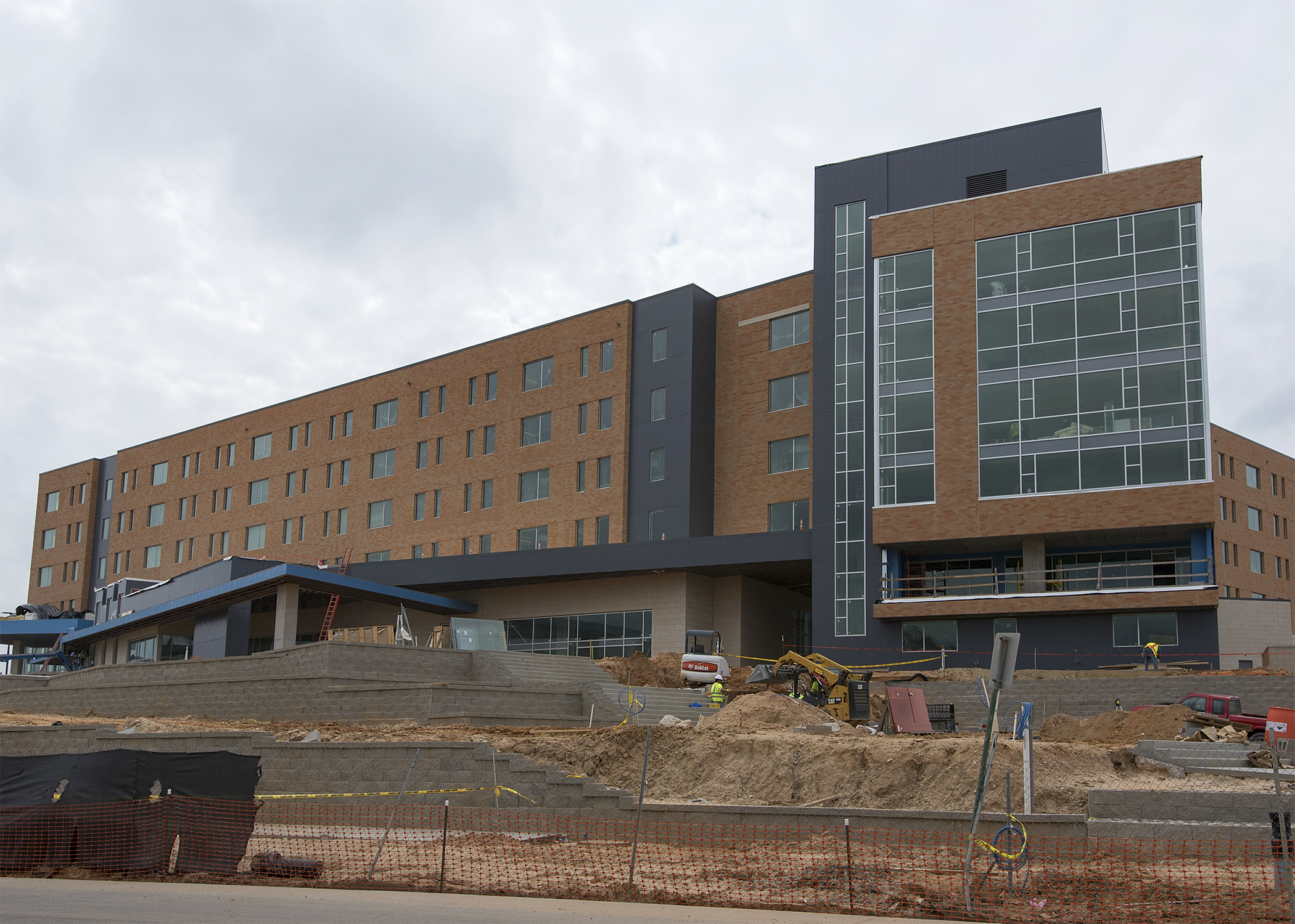 Construction photo of residence hall