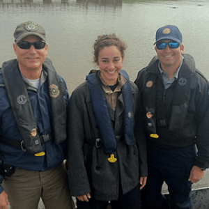 Criminal Justice Senior Protects River Section Photograph