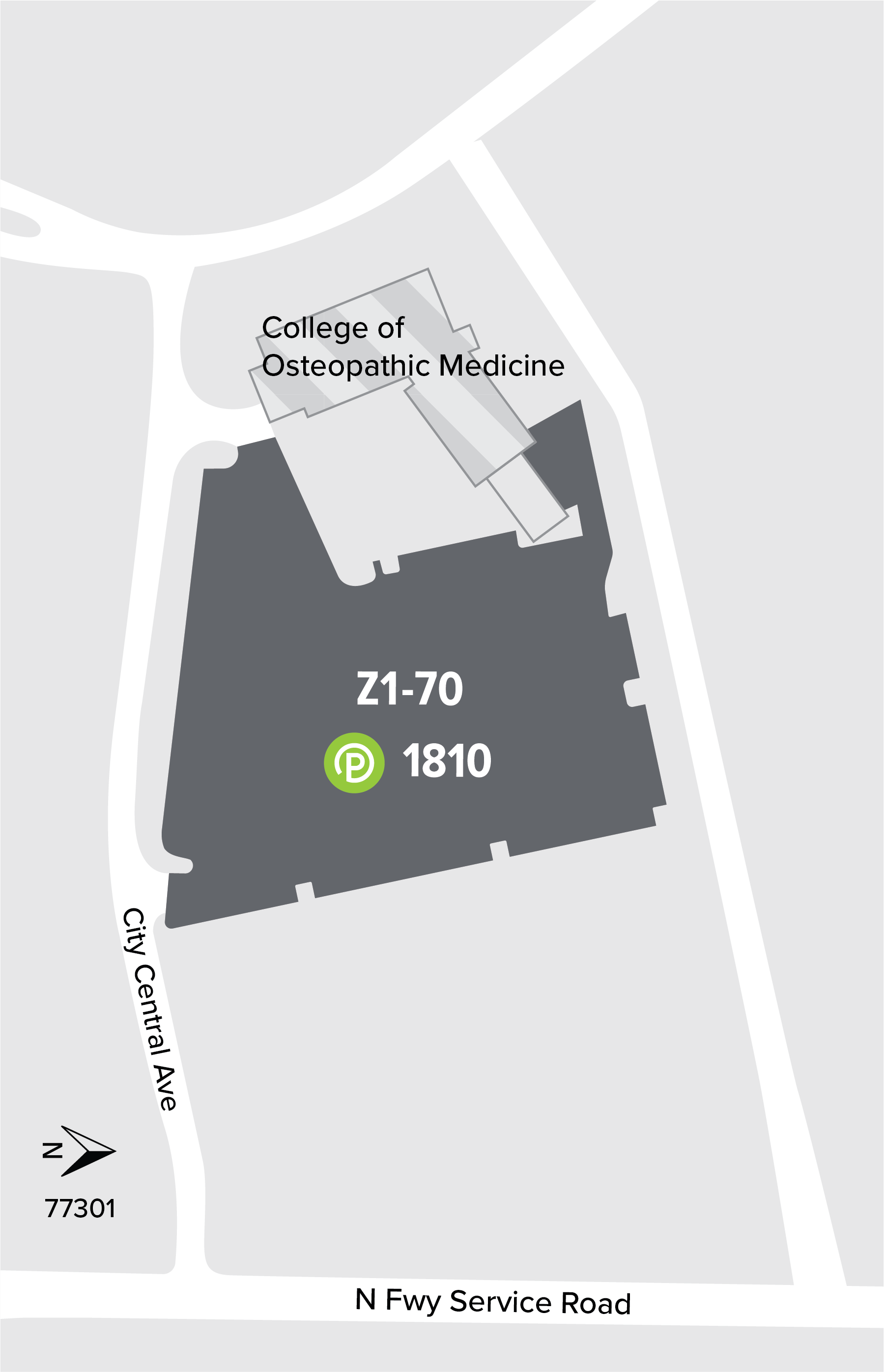 College of Osteopathic Medicine map