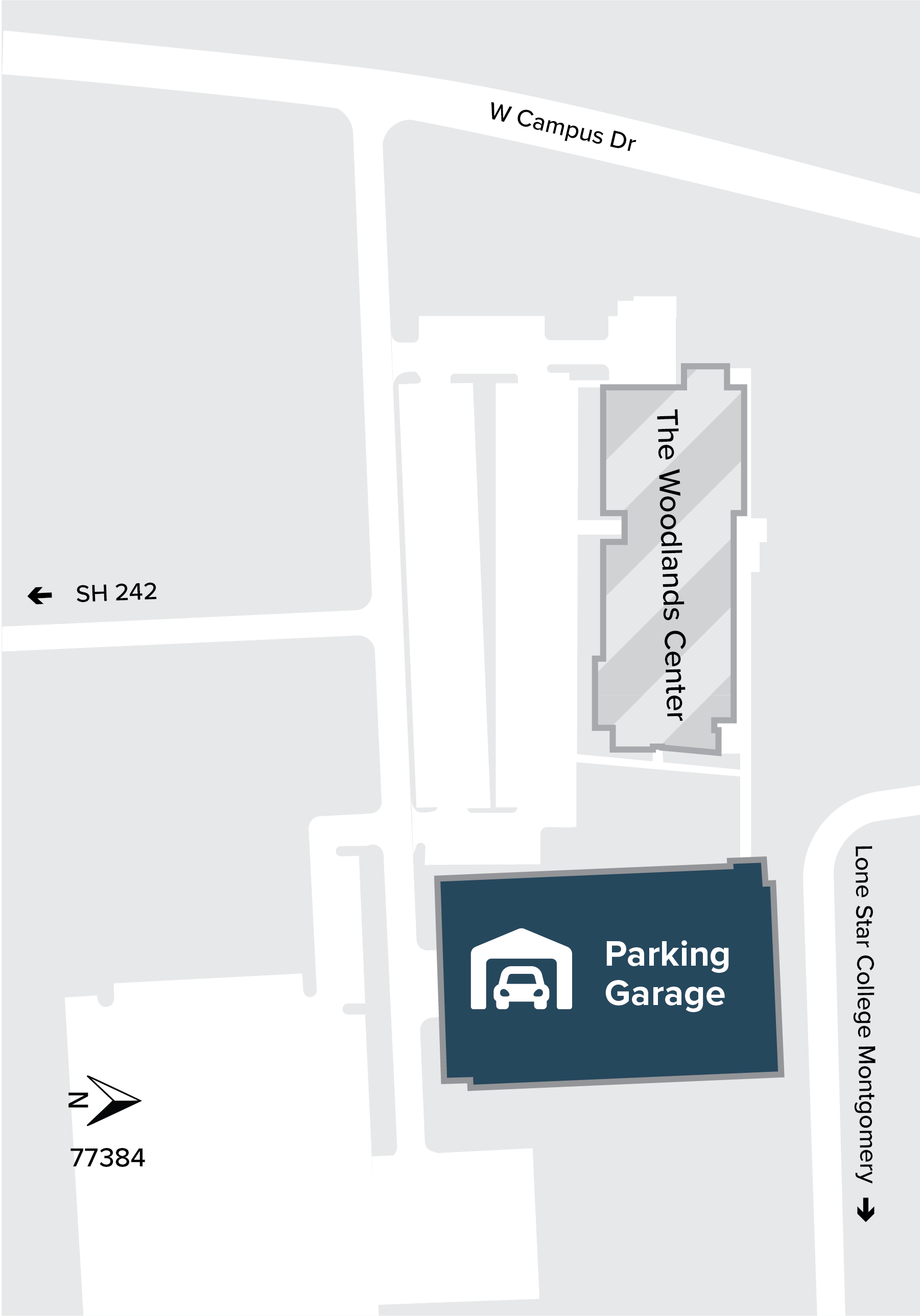 The Woodlands Center map