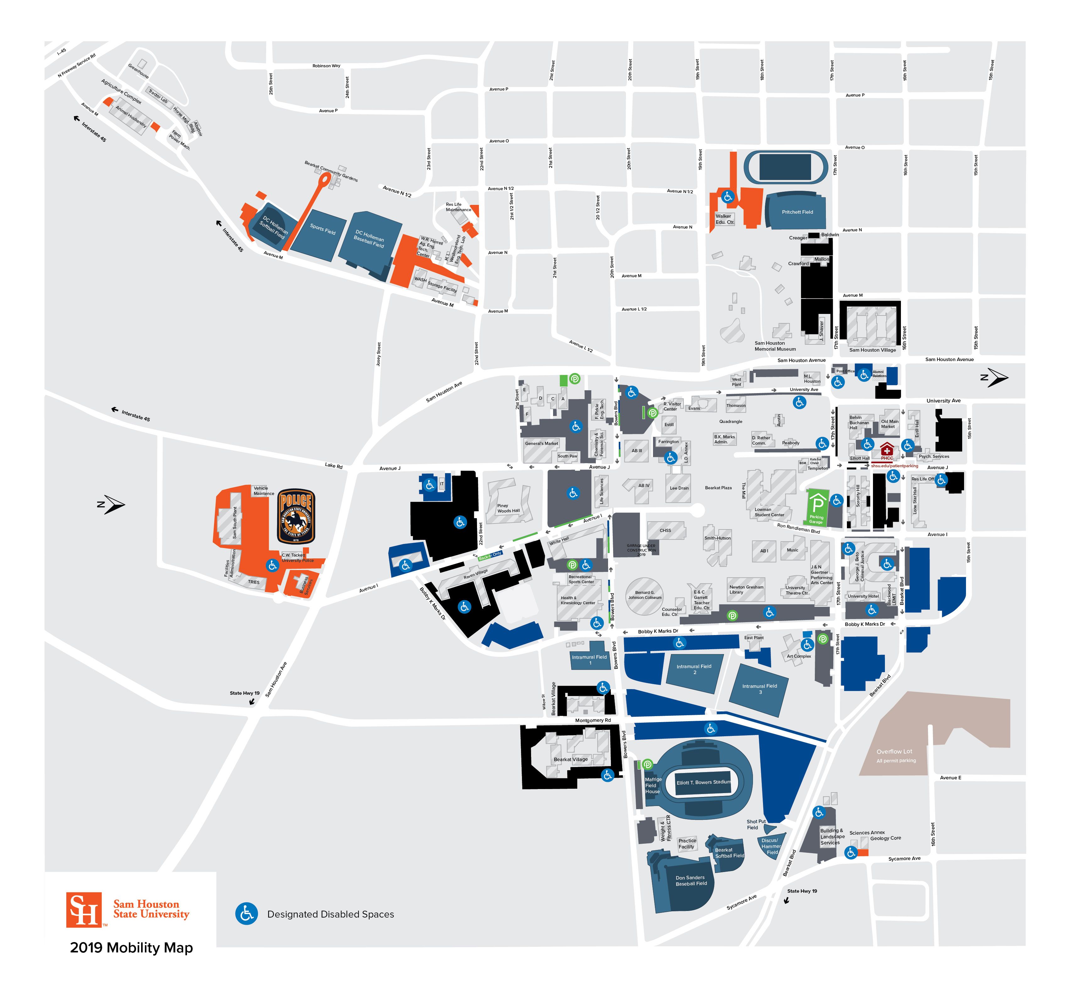 motorcycle parking map