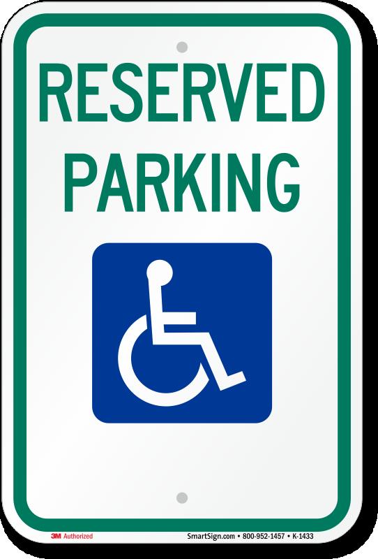 texas official handicap sign