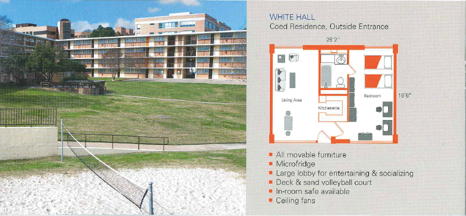 Exterior and Floor Plan of White Hall