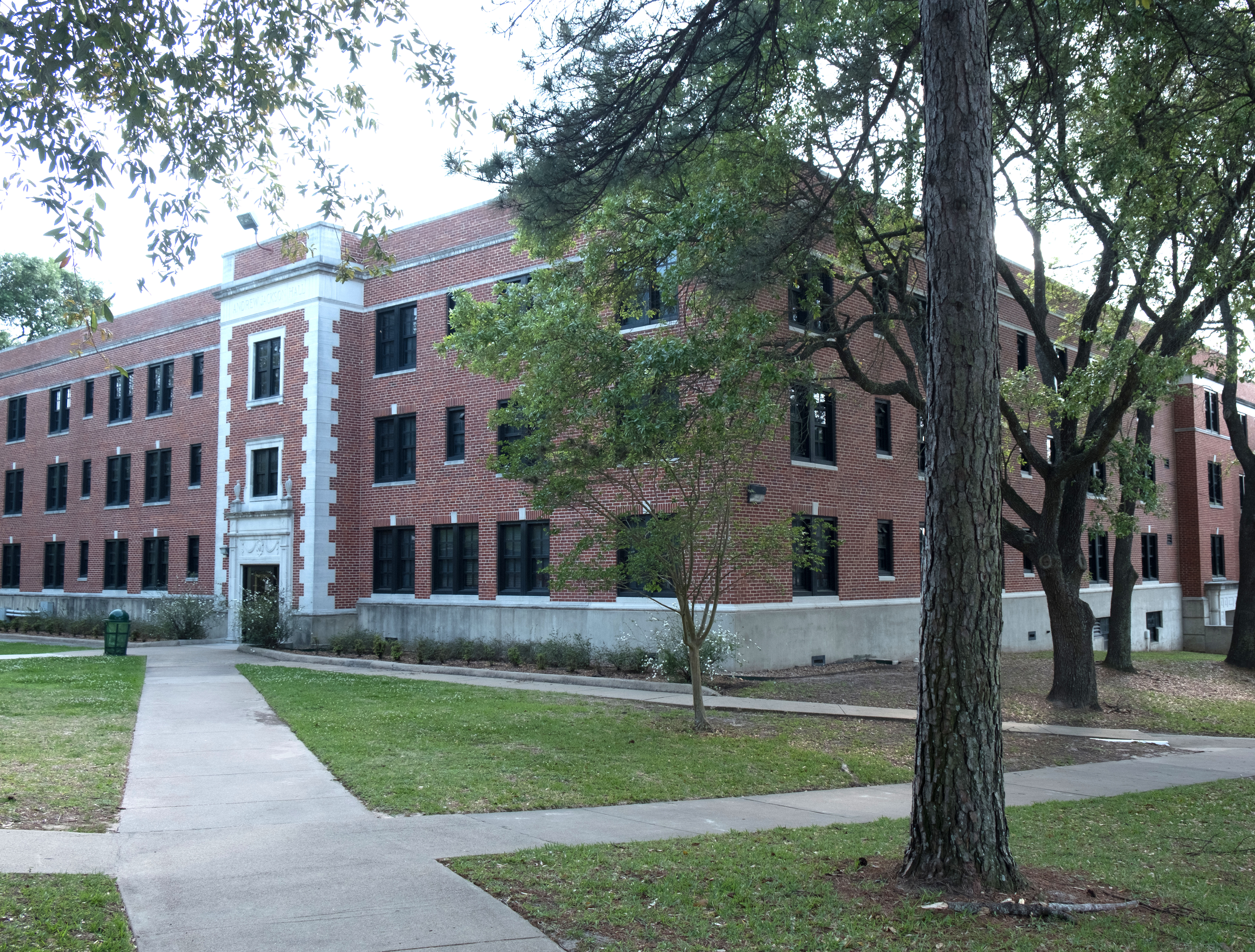 An image of a residence hall on campus.