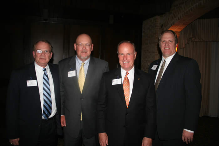 photograph of Holmes, Beckner, Gaertner, and Jones