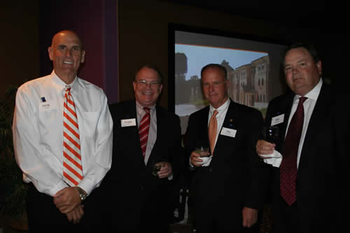 Greg Smith, Frank Holmes, President Gaertner and Ray Burgess