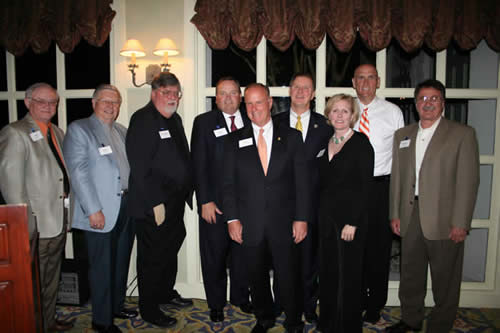 Dr. Gaertner with hosts of the Bentwater, Montgomery County Capital Campaign Dinner