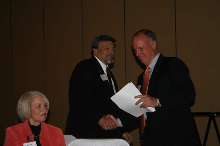 Campaign Chair Ron Mafrige and President Gaertner
