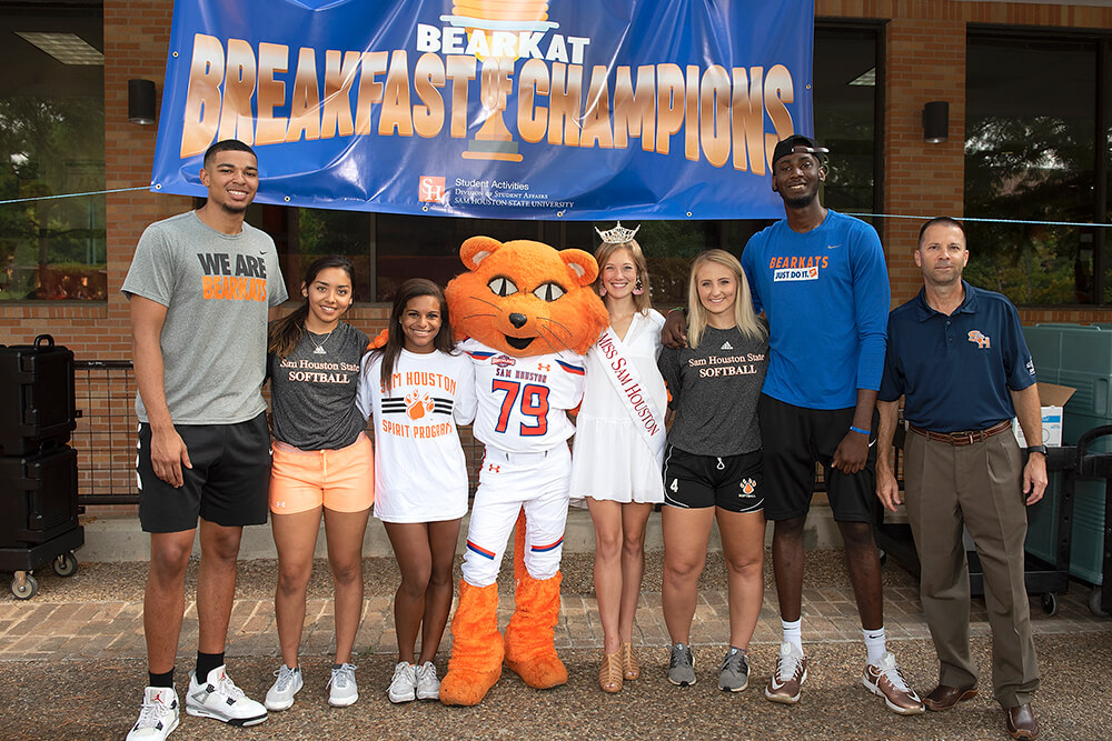 Sammy posing with Pancake Breakfast Champions