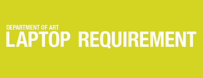 laptop requirement banner graphic yellow