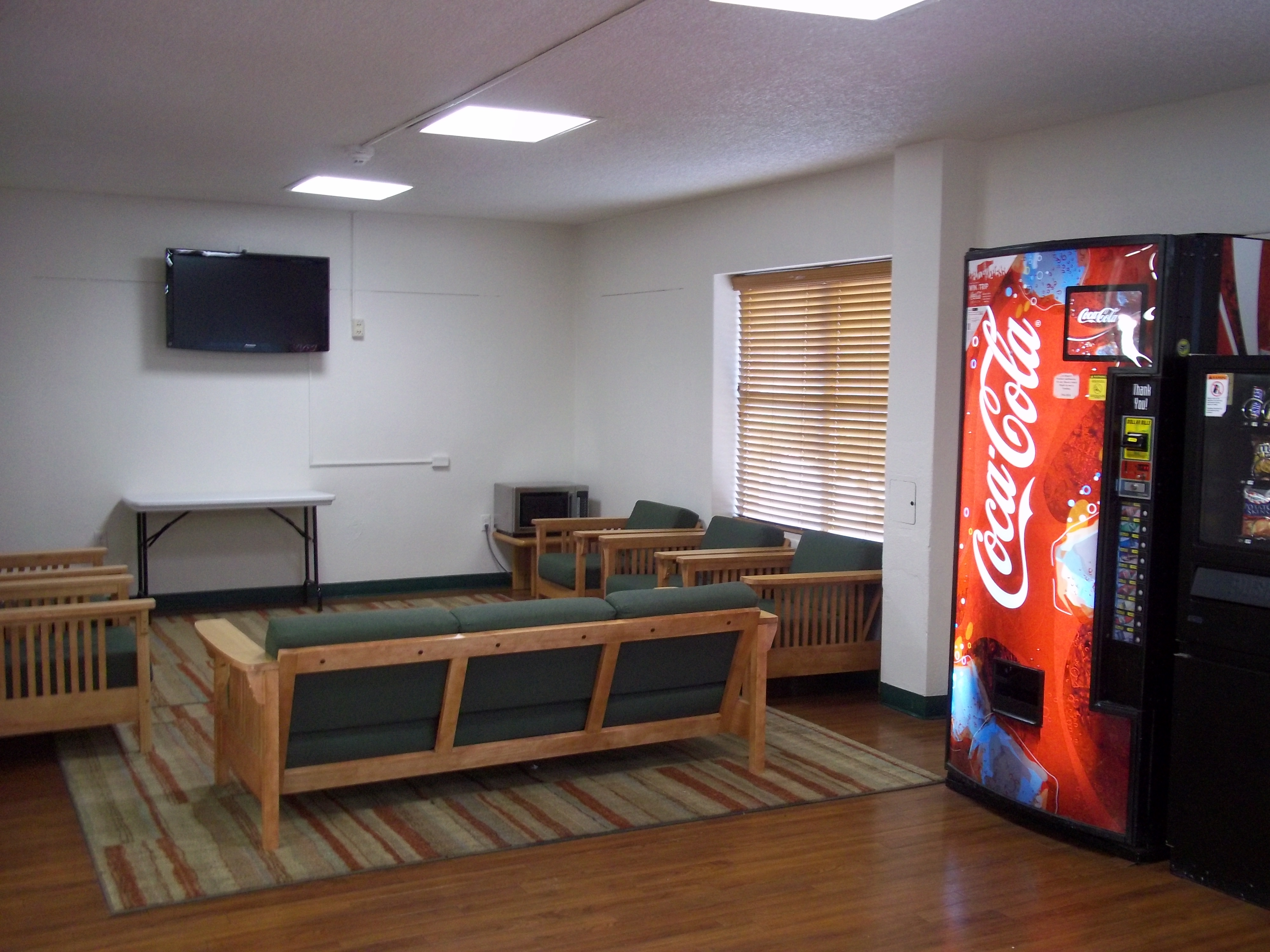 Lounge with vending machines