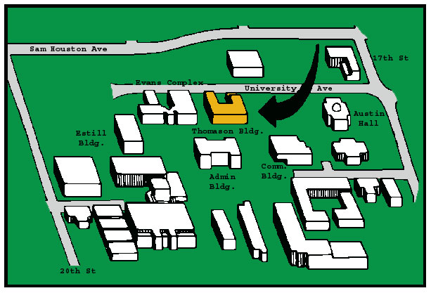 Map to Thomason Bldg